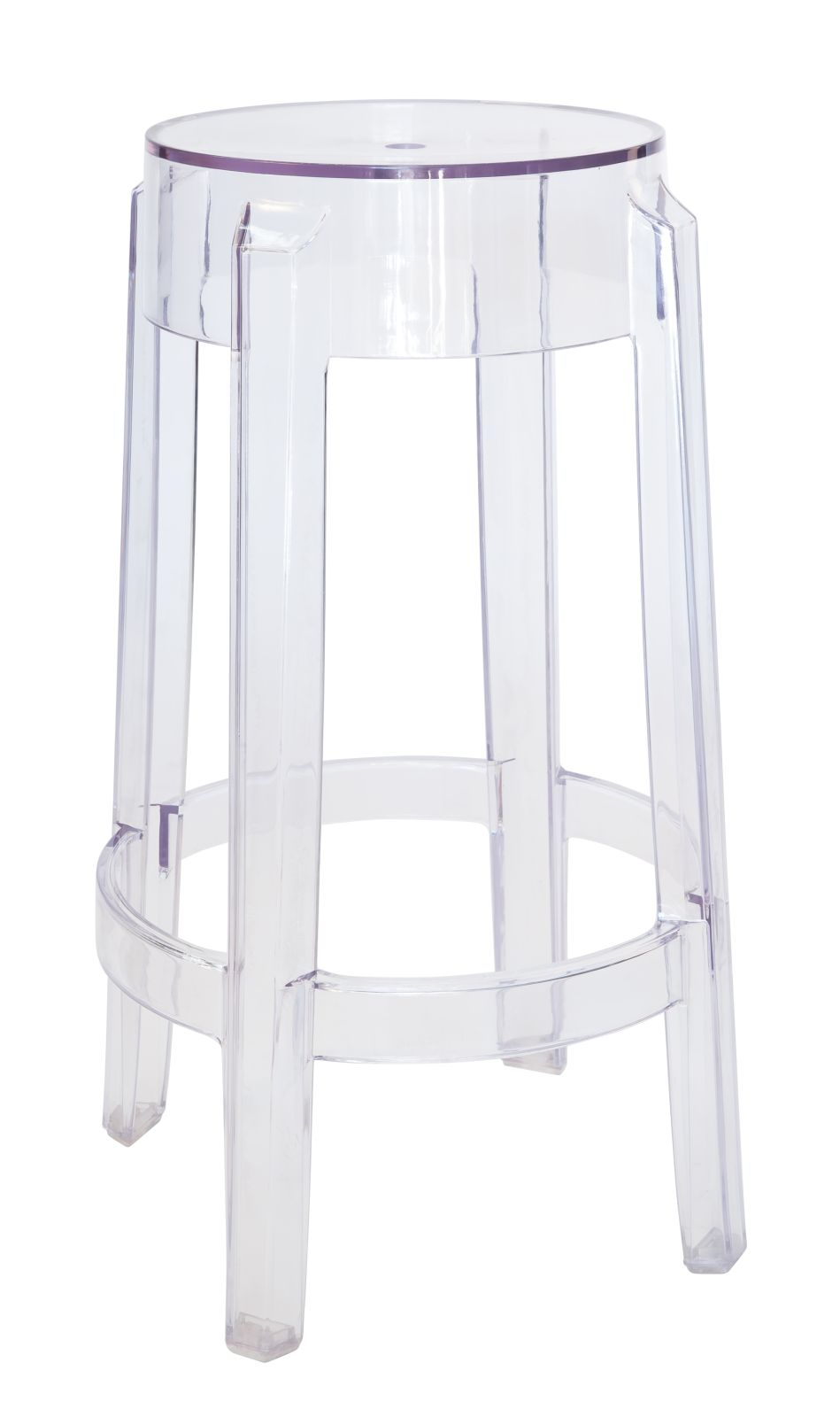 Replica Philippe Starck Louis Ghost Bar / Kitchen Stool 66cm | Clear Transparent
