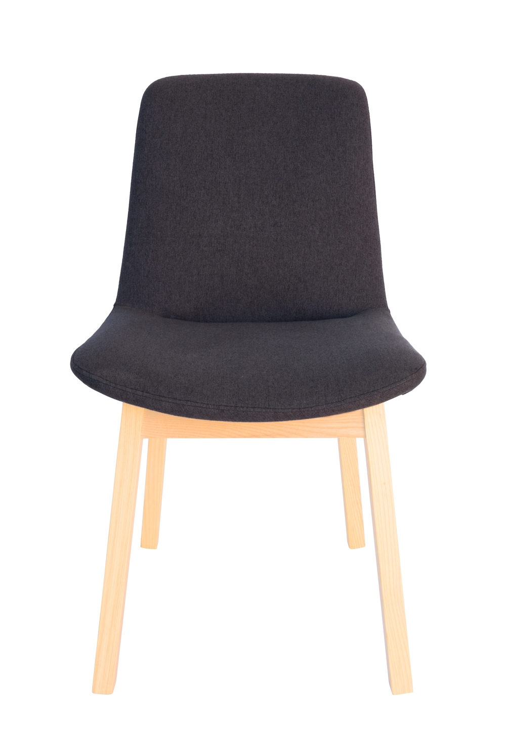 Cozy Dining Chair | Dark Grey Fabric | Natural Legs