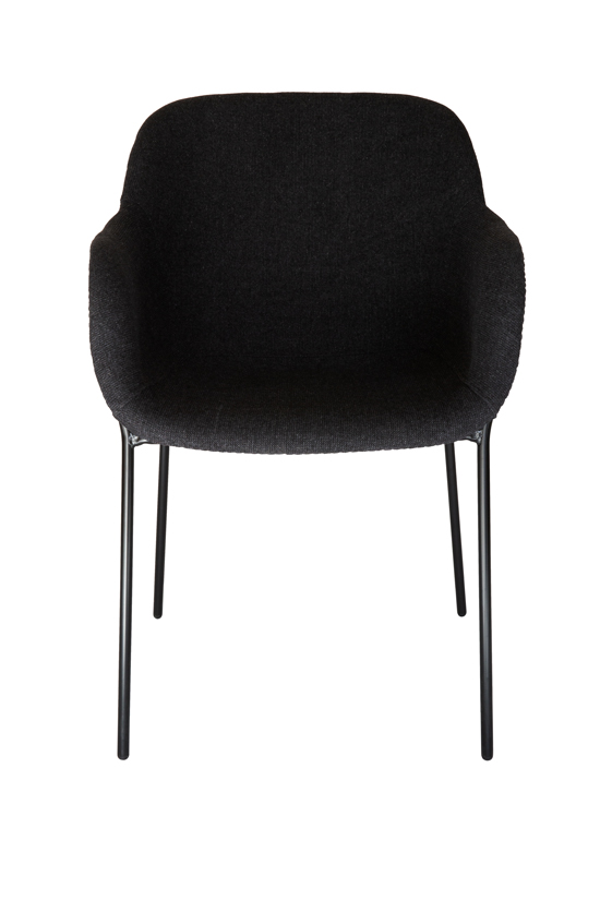 Milan Fabric Dining Chair | Grey / Charcoal