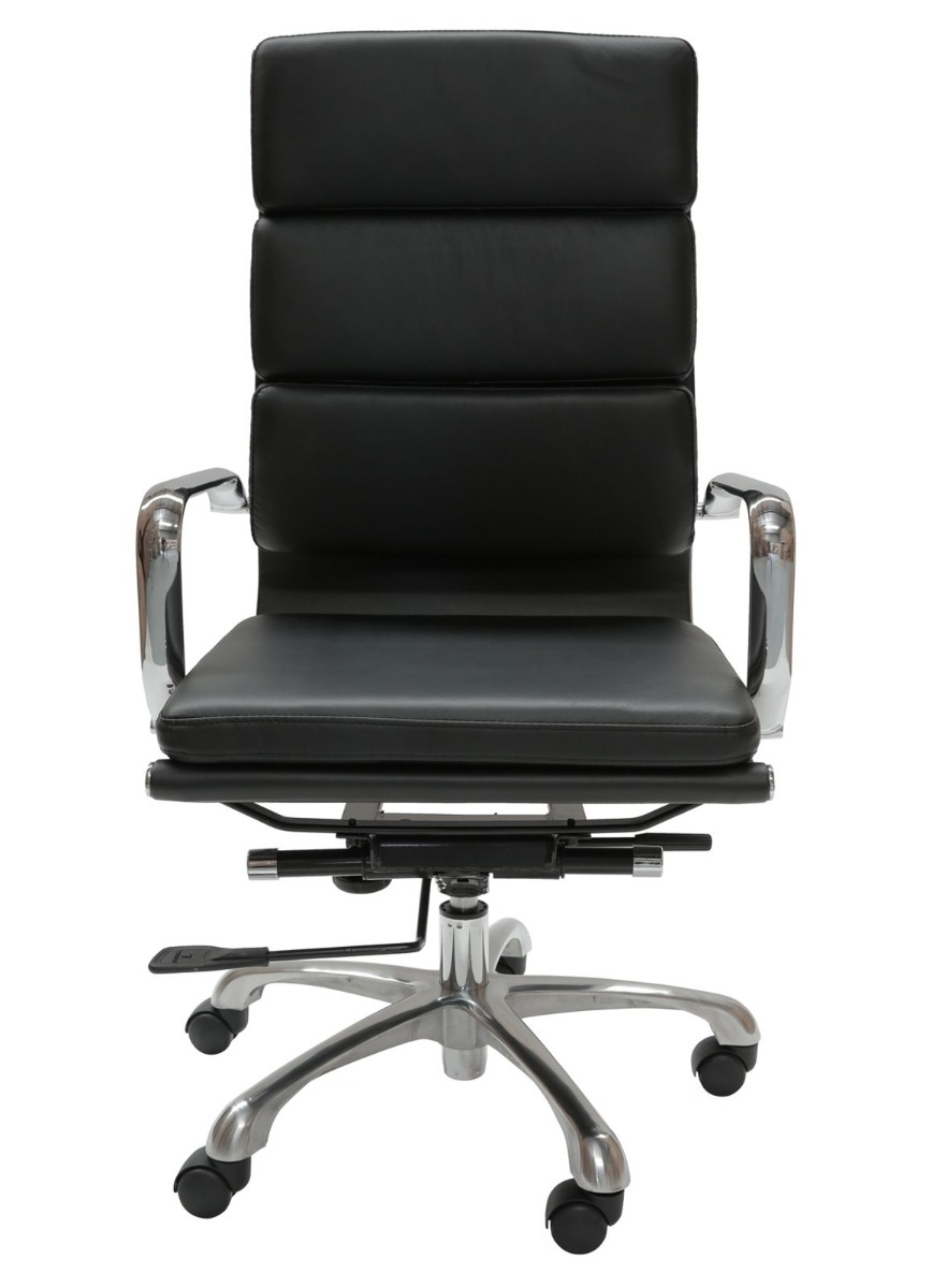 Eames Inspired High Back Soft Pad Executive Desk / Office Chair   Black