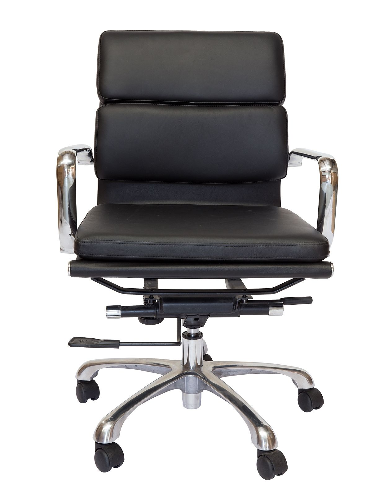 Eames Inspired Mid Back Soft Pad Management Desk / Office Chair   Black