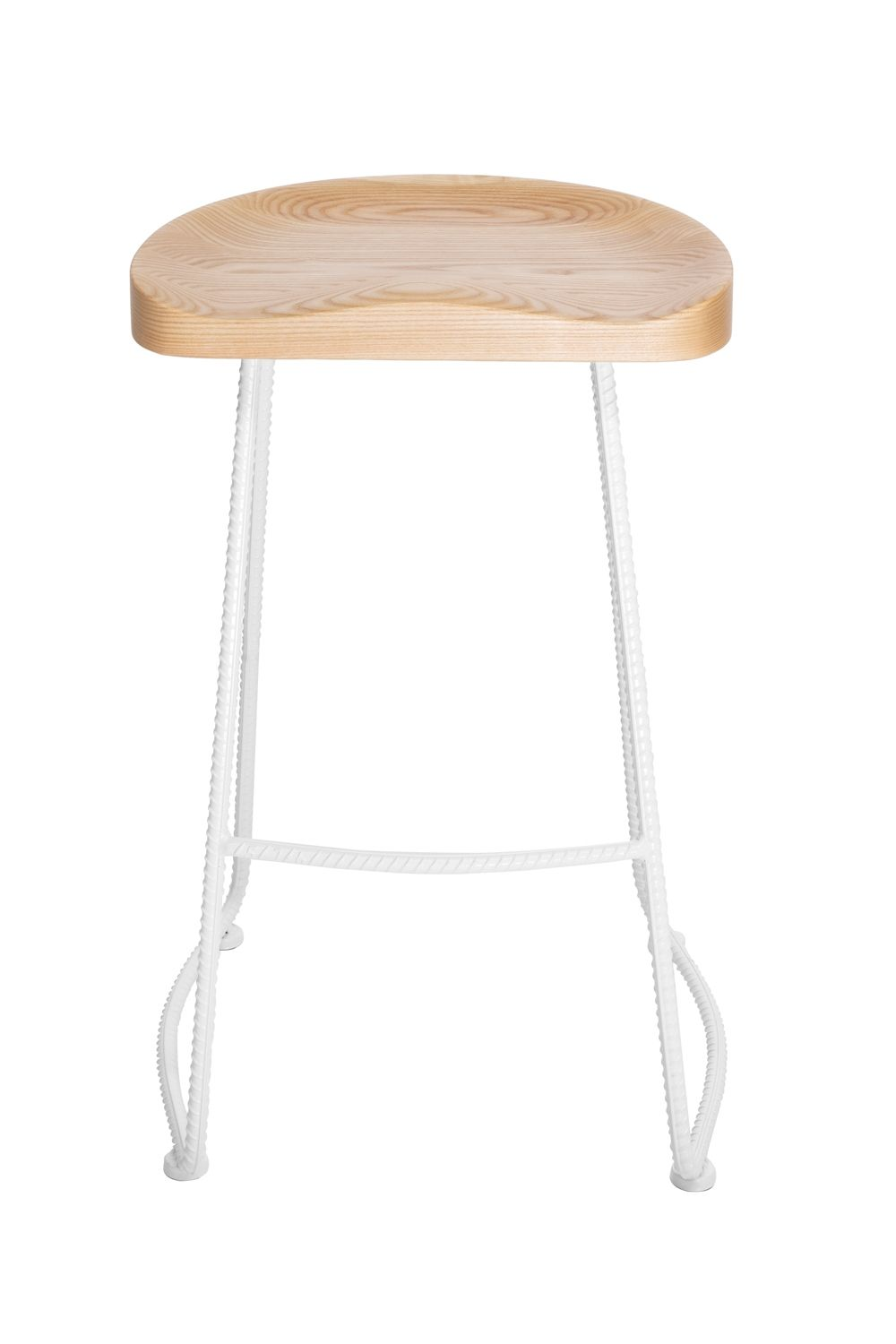 Farmhouse Tractor Stool | White & Natural