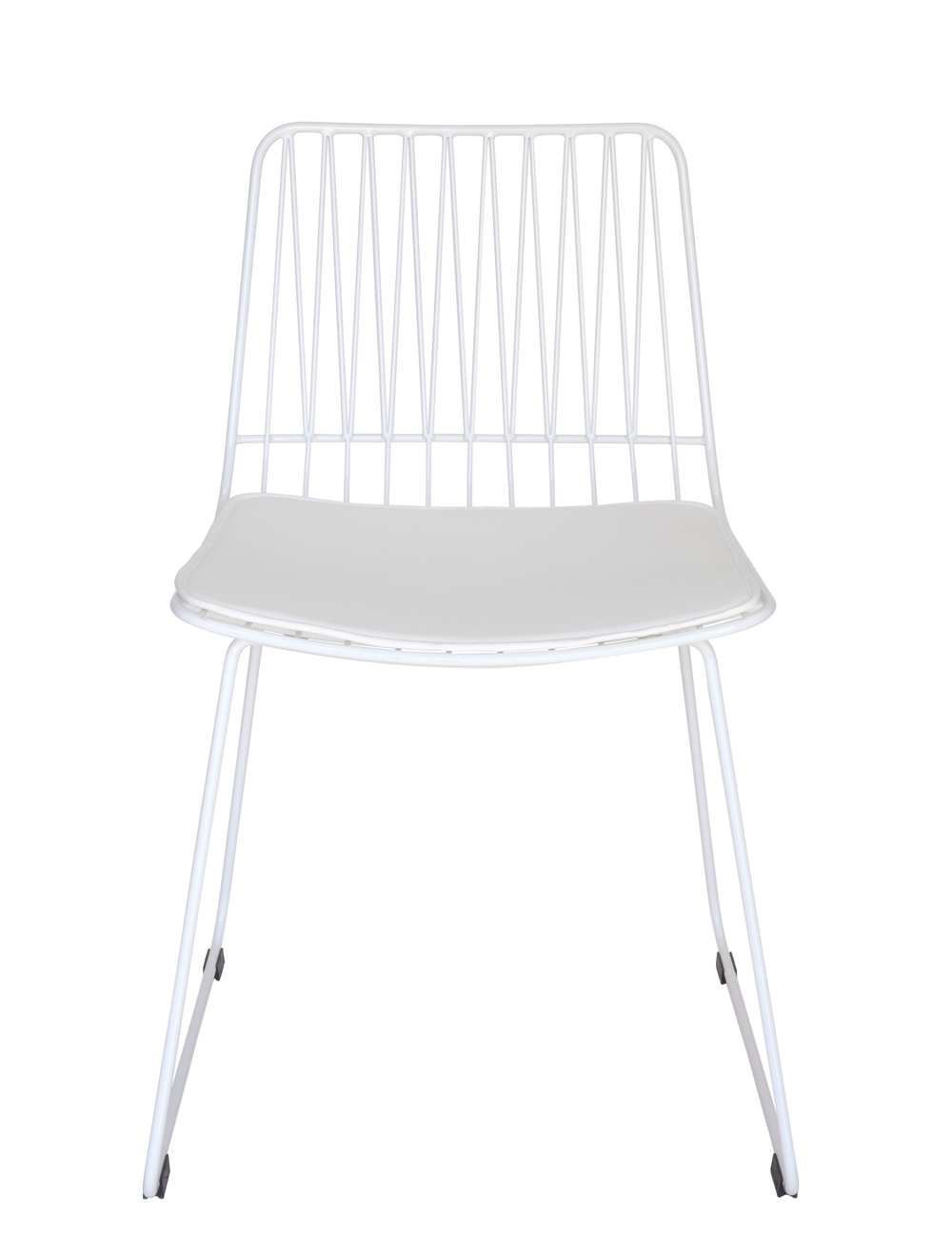 Lory Bend Wire Chair | White