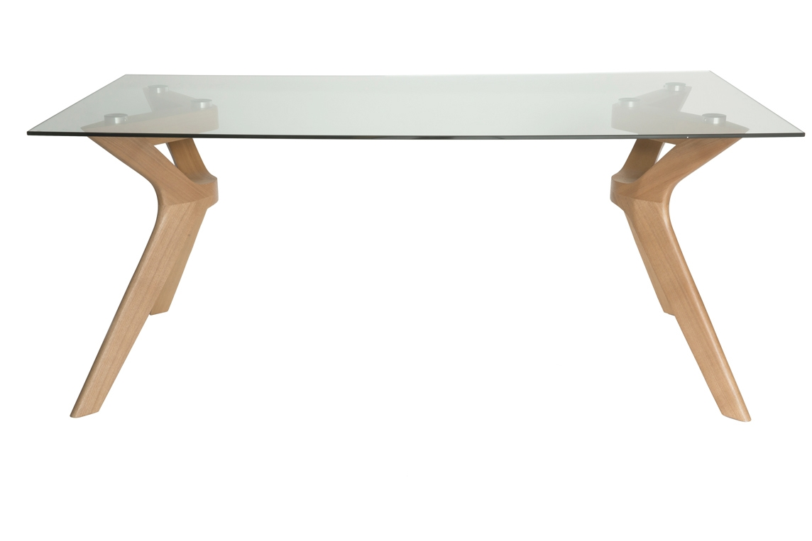 Murf Collection   Rectangular Glass Dining Table   Natural   180cm