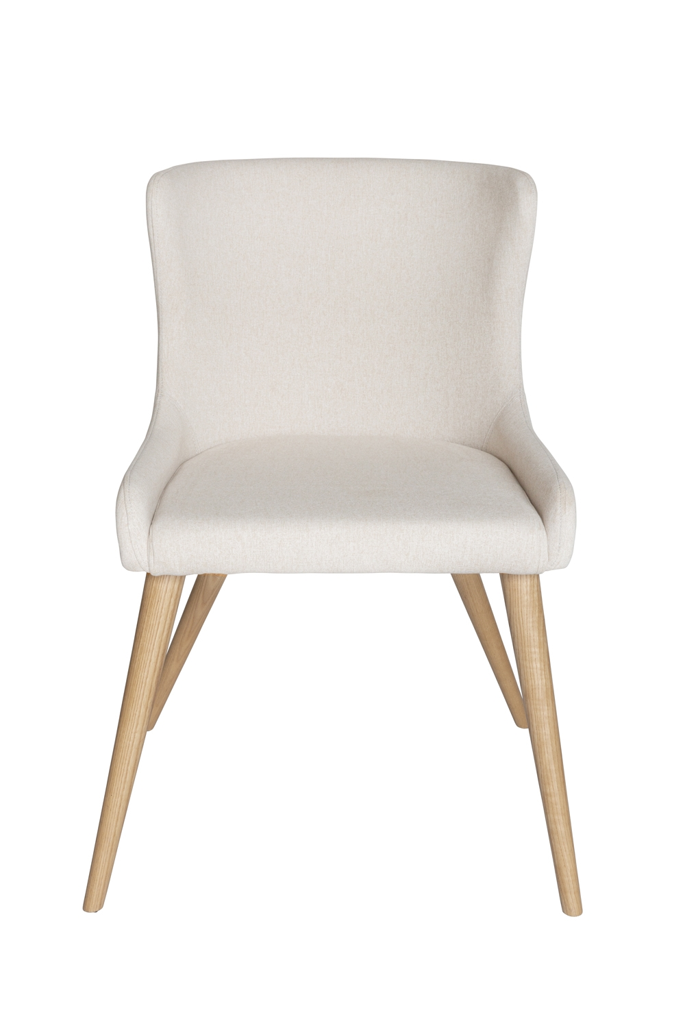 Osaka Dining Chair   Ivory Fabric   Natural Legs