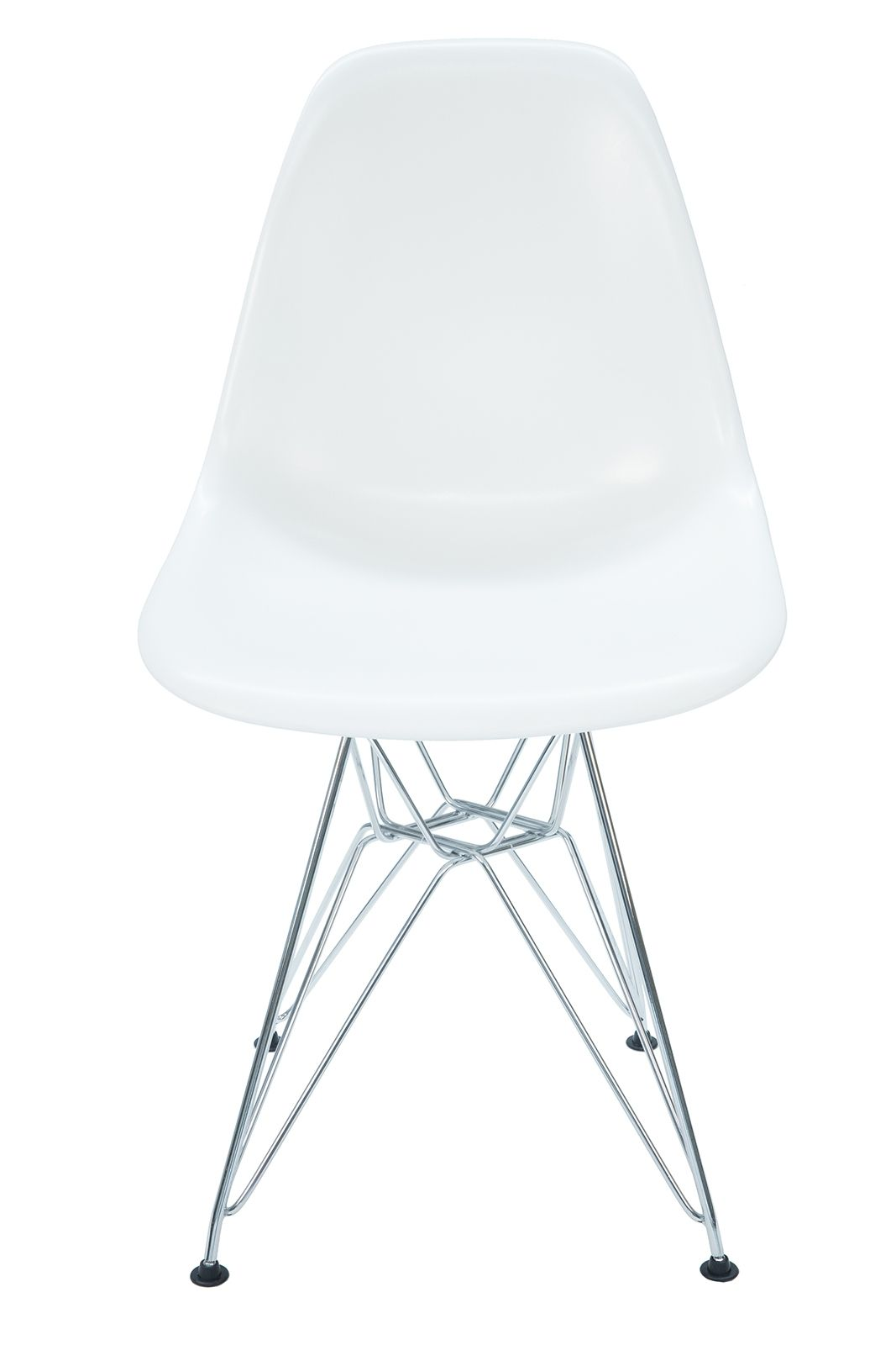 Replica Eames DSR Eiffel Chair & Chrome Legs | White