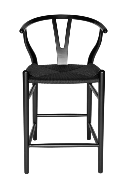 Replica Hans Wegner Wishbone Stool | Black