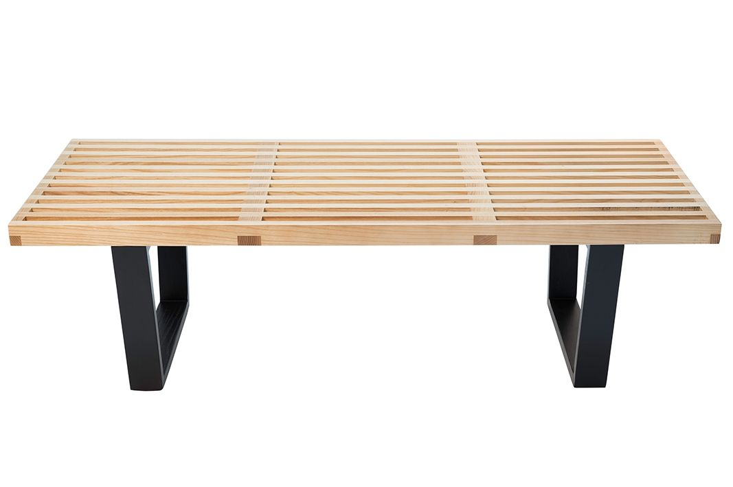 Replica George Nelson Platform Bench | 152cm | Natural & Black