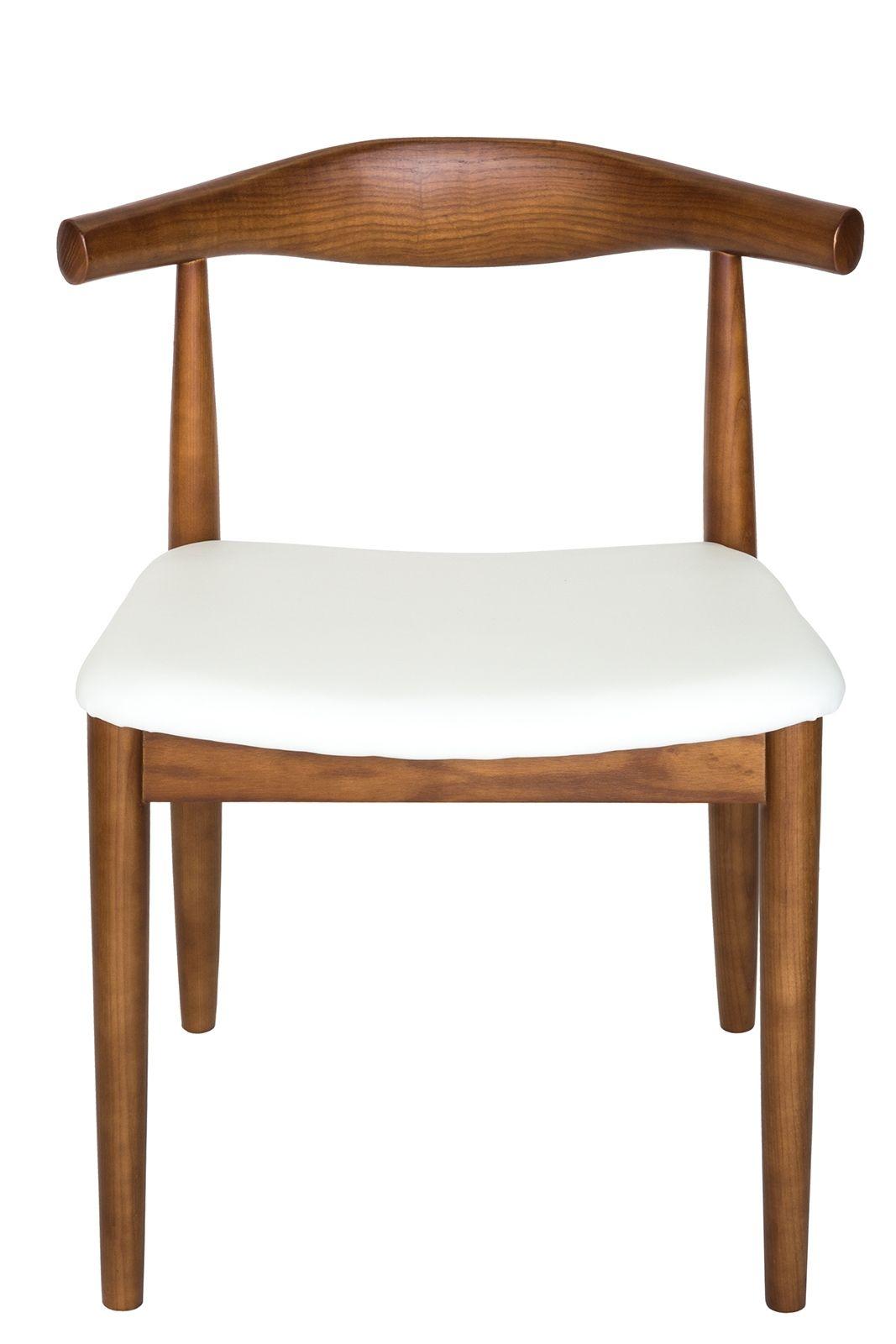 Replica Hans Wegner Elbow Chair CH20 | White & Walnut