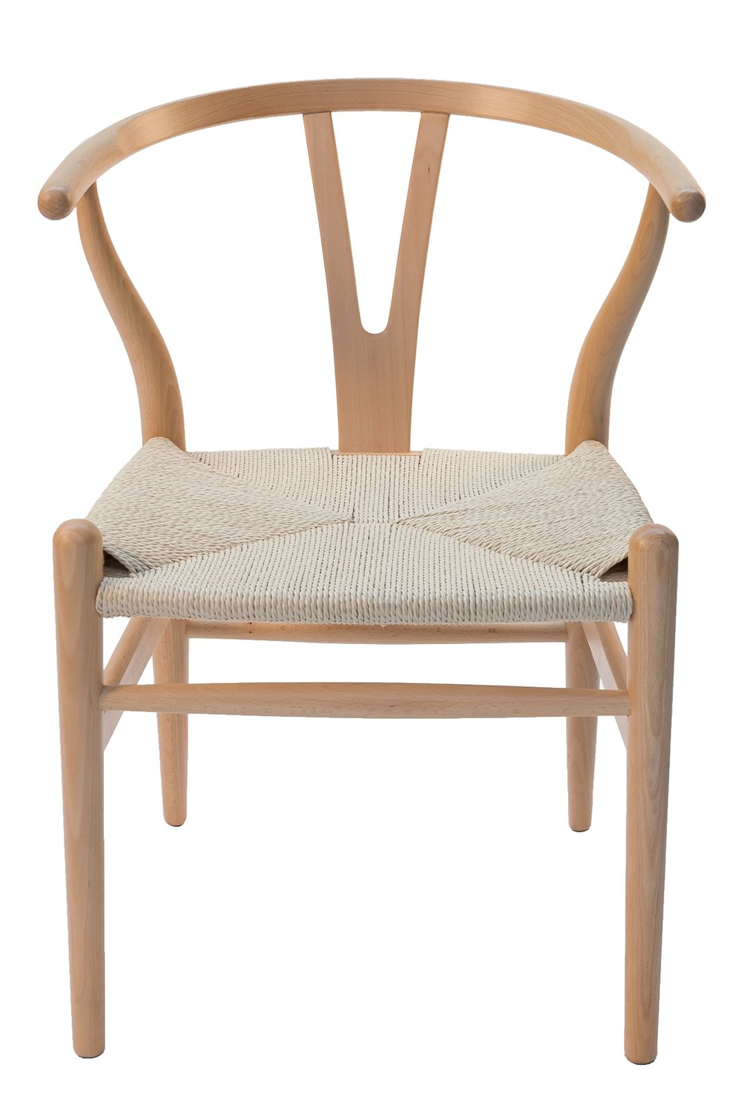 Replica Hans Wegner Wishbone Chair | Natural Frame & Natural Seat