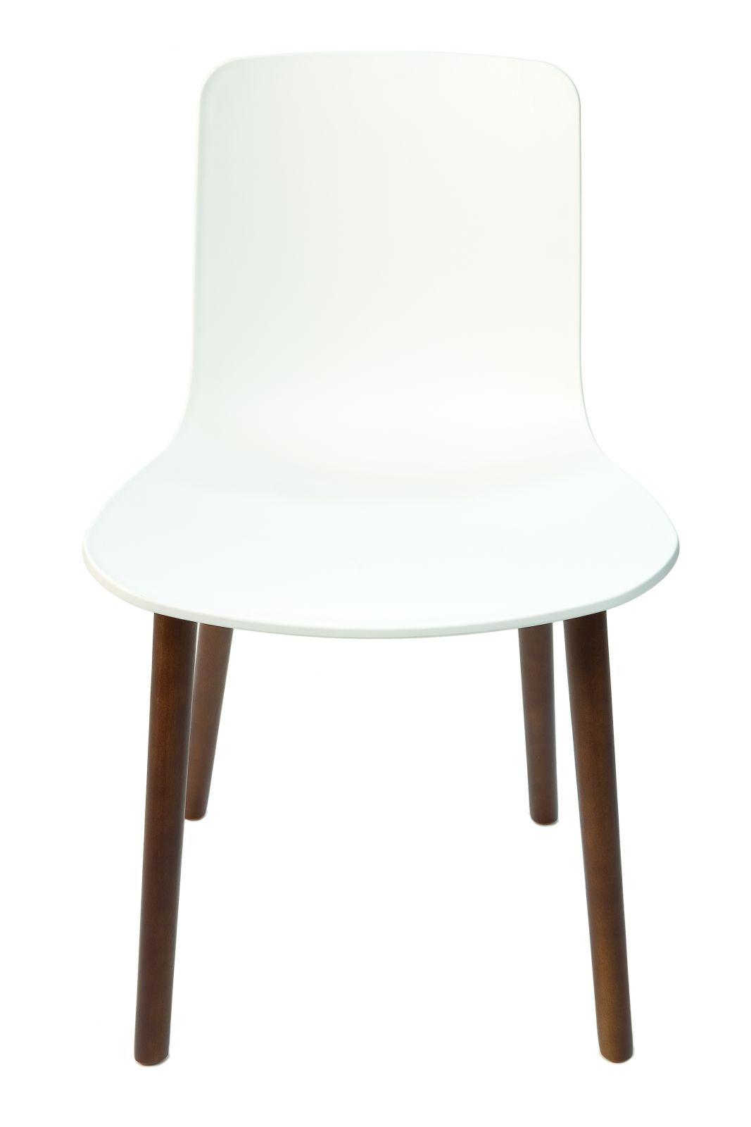Replica Jasper Morrison Hal Chair | White Seat | Walnut Legs