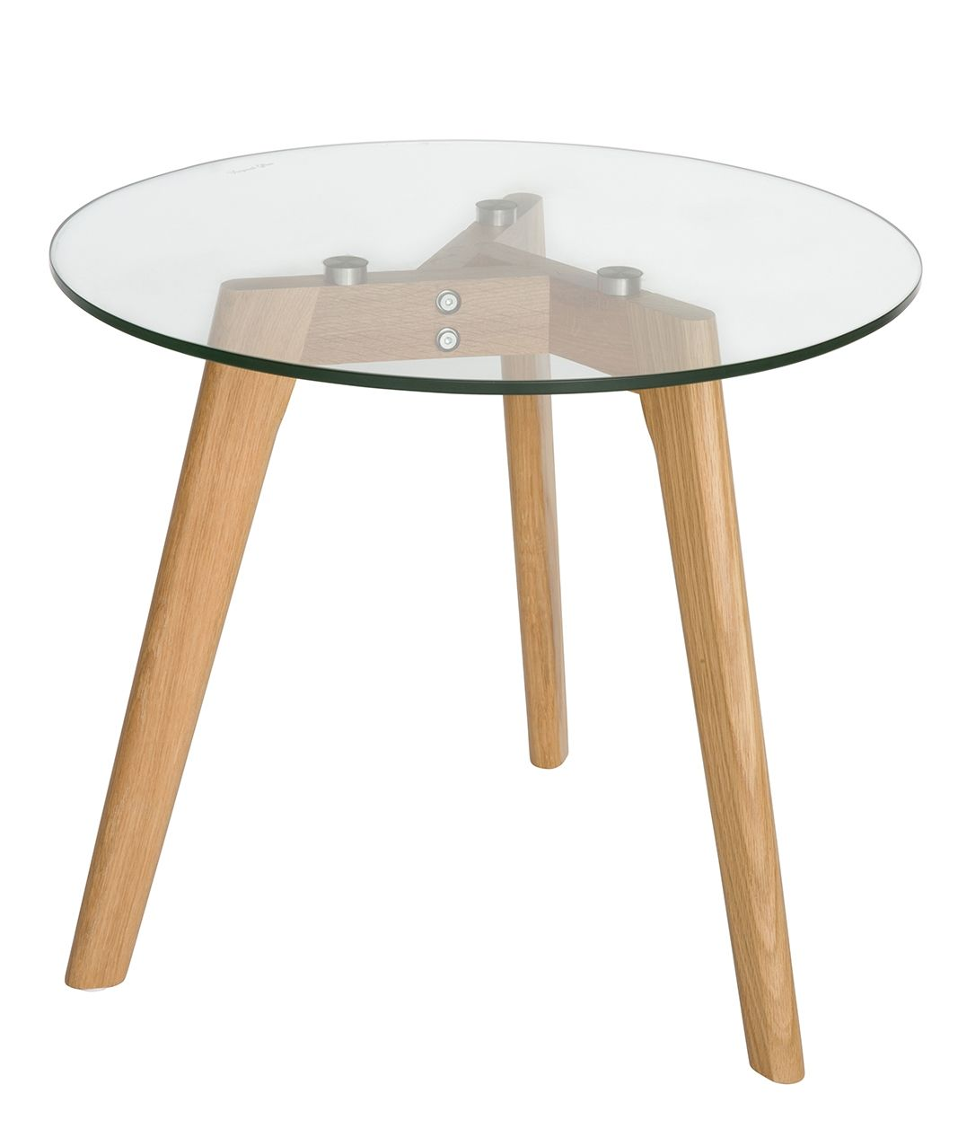 Stad Round Glass Side Table | Natural