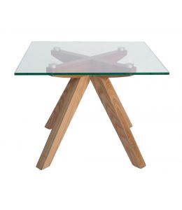 Amber Collection | Glass Side Table | Natural