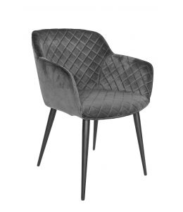 Ava Dining Chair | Velvet Seat & Black Legs