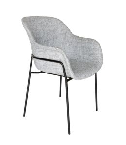 Curved Fabric Dining Chair