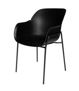 Curved Plastic Dining Chair