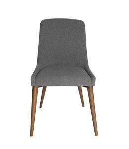 Dakota Dining Chair   Grey Fabric   Walnut Legs
