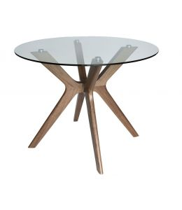 Doreen Collection | Glass Round Dining Table | 100cm