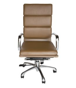 Eames Inspired High Back Soft Pad Executive Desk / Office Chair | Brown