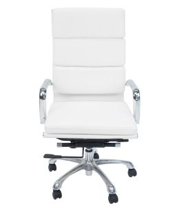 Eames Inspired High Back Soft Pad Executive Office Chair | White