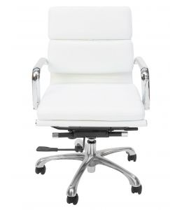 Eames Inspired Low Back Soft Pad Management Office Chair | White