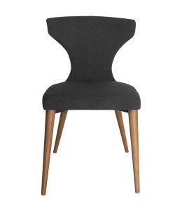 Havana Dining Chair | Dark Grey Fabric | Walnut Legs