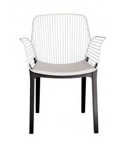 Kyoto Dining Chair | White & Black