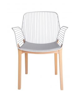 Kyoto Dining Chair | White & Natural