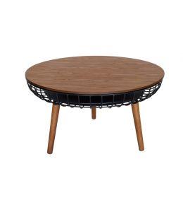 Massa Coffee Table | Black & Walnut