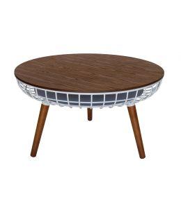 Massa Coffee Table | White & Walnut