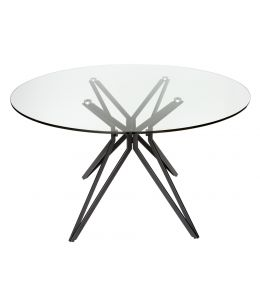 Miles Collection | Glass Round Dining Table | 120cm