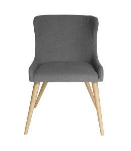 Osaka Dining Chair | Grey Fabric | Natural Legs