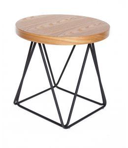 Oslo Side Table | Matte Black & Natural