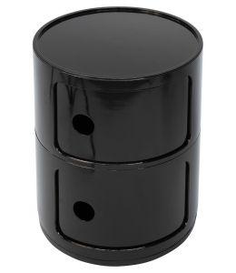 Replica Anna Castelli Ferrieri Componibili Round Storage Unit 2 Tier | Black