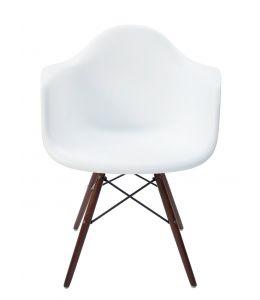 Replica Eames DAW Eiffel Chair | Walnut Legs | White