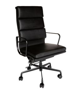 Replica Eames High Back Soft Pad Executive Desk / Office Chair | All Black