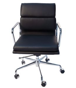 Replica Eames Low Back Soft Pad Management Office Chair | Black