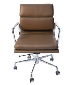 Replica Eames Low Back Soft Pad Management Office Chair | Brown