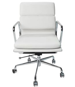 Replica Eames Low Back Soft Pad Management Office Chair | White