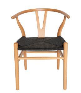Replica Hans Wegner Wishbone Chair | Black Frame & Natural Rattan Seat