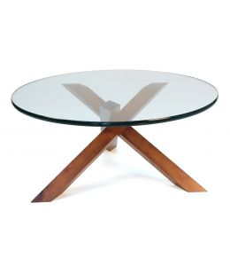 Replica Petar Zaharinov Puzzle Glass Coffee Table   Walnut