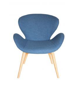 Replica Arne Jacobsen Swan Chair | Blue Fabric | Natural Legs