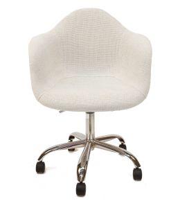 Replica Eames DAW / DAR Desk Chair | Ivory Fabric Seat