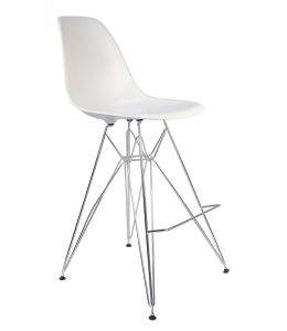 Replica Eames DSR Bar / Kitchen Stool | Chrome Legs