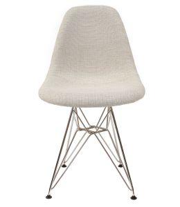 Replica Eames DSR Eiffel Chair | Ivory Seat | Chrome Legs