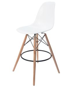 Replica Eames DSW Bar / Kitchen Stool | Natural Wood Legs