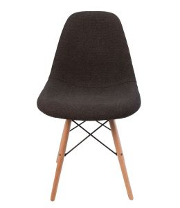 Replica Eames DSW Eiffel Chair | Grey / Charcoal Seat | Natural Wood Legs