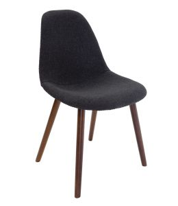 Replica Eames DSW Hal Inspired Chair | Fabric Seat | Walnut Legs