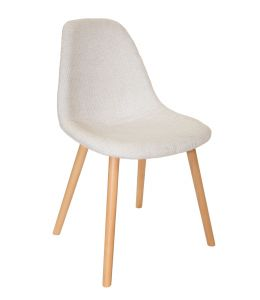 Replica Eames DSW Hal Inspired Chair | Fabric Seat | Natural Beech Legs