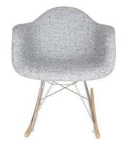 Replica Eames RAR Rocking Chair   Textured Light Grey Fabric Seat